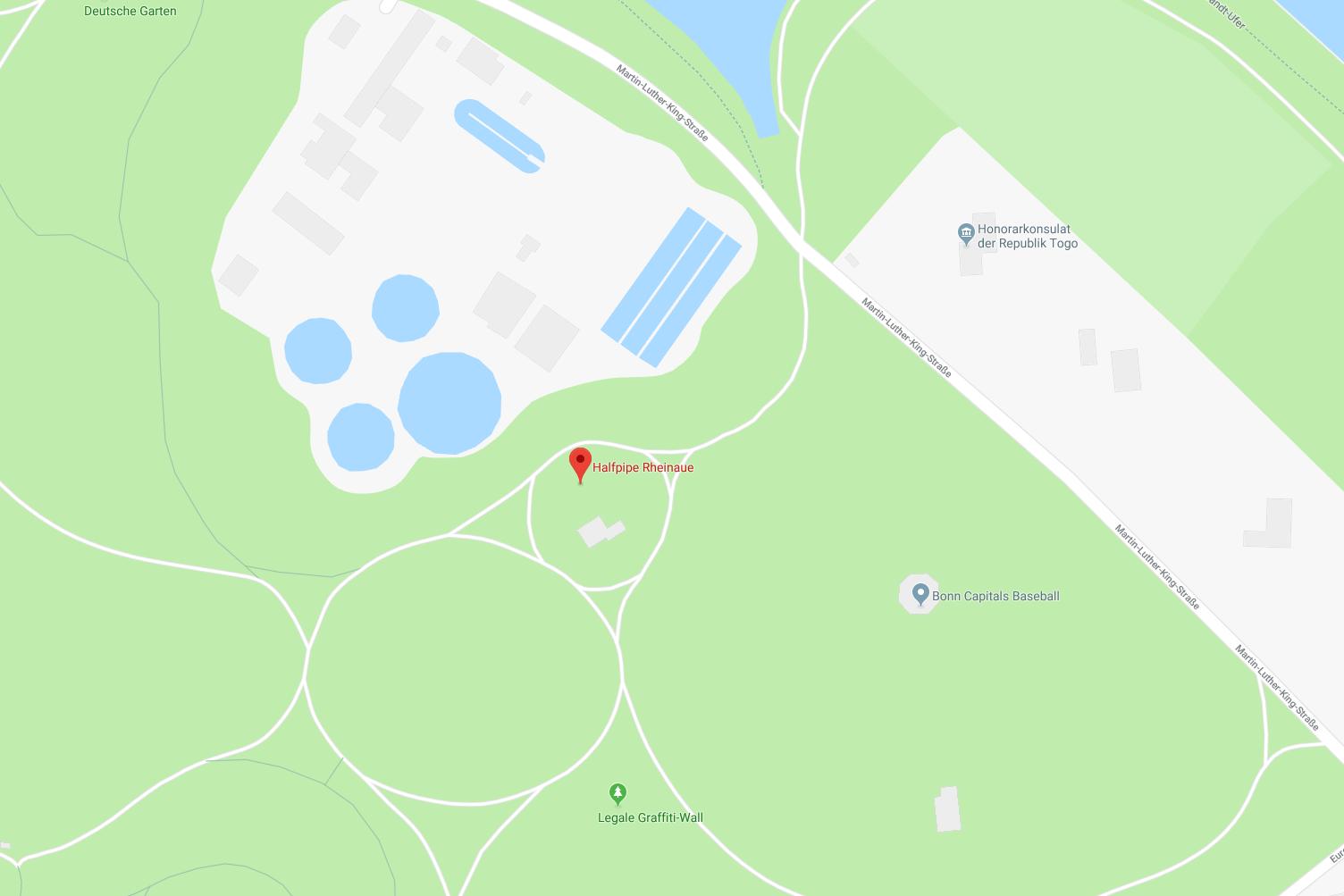 Anfahrt Halfpipe Bonn